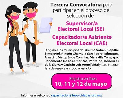 EL IEPC OFRECE OPORTUNIDAD DE EMPLEO TEMPORAL COMO SUPERVISOR/A Y CAPACITADOR/A ASISTENTE ELECTORAL LOCAL