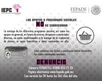 LOS APOYOS O PROGRAMAS SOCIALES NO SE CONDICIONAN